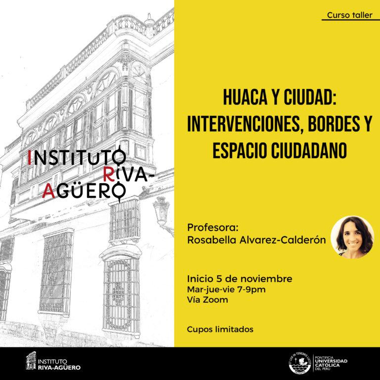 Huaca y ciudad curso taller